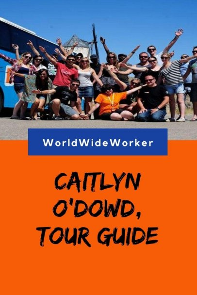 Working as a tour guide