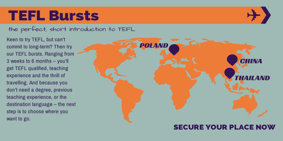 TEFL Bursts in Poland, China and Thailand