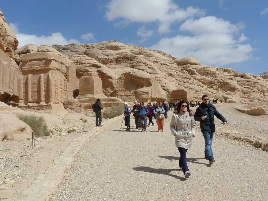 Near the start of the route into Petra