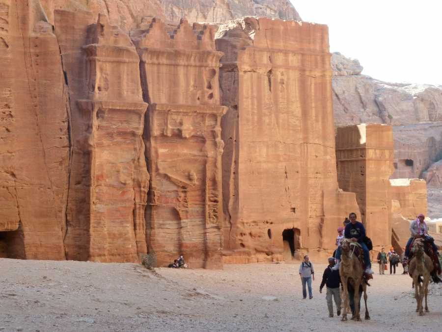 Tourists on Camels at Petra