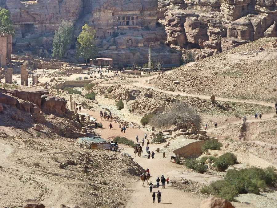 The main route through Petra