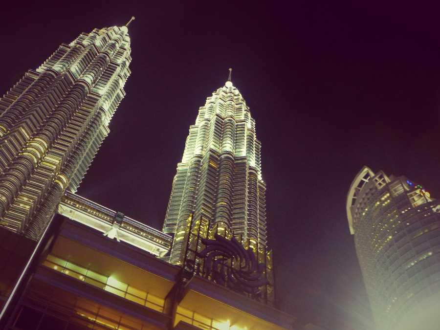 The Petronas Towers are twin skyscrapers in Kuala Lumpur, Malaysia