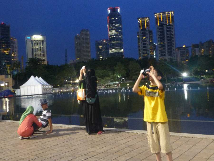 The buildings are a landmark of Kuala Lumpur