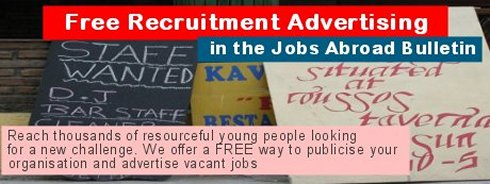 Free Recruitment Advertising in the Jobs Abroad Bulletin
