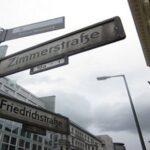 Zimmerstrasses sign in Berlin