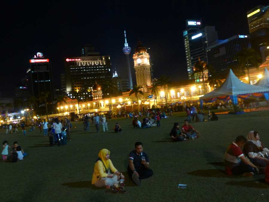 Merdeka Square, where I took these photographs, used to be a cricket pitch during the colonial period