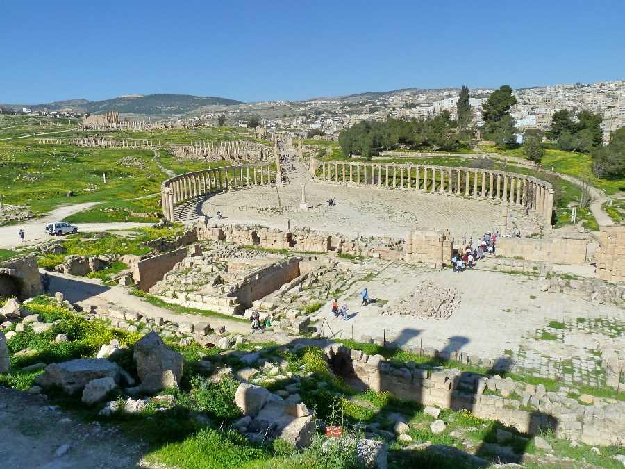 Jerash ruins in northern Jordan