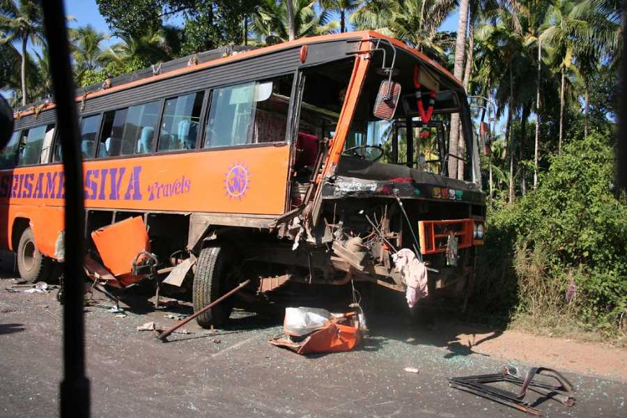 Dangerous bus travel