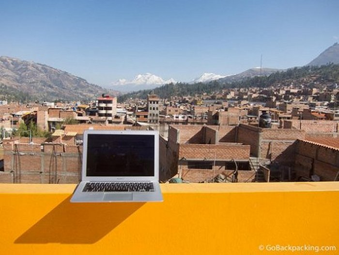 Backpack and work in Huaraz, Peru