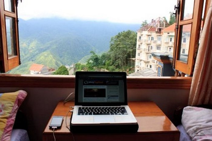 Digital nomad office in Sapa, Vietnam