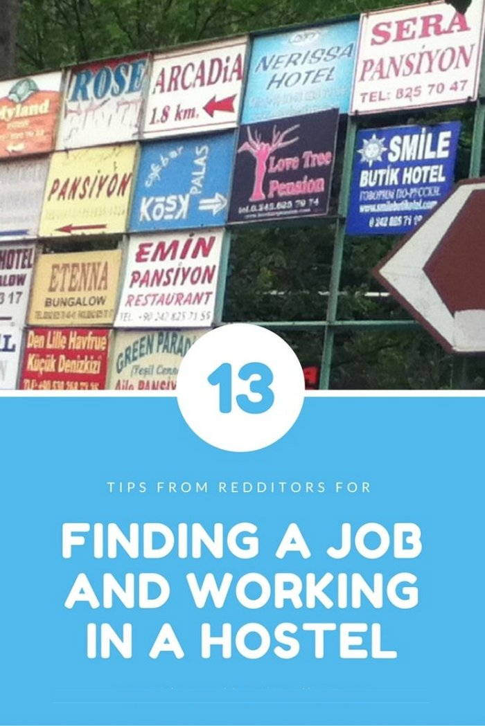 Finding a Job and Working in a Hostel